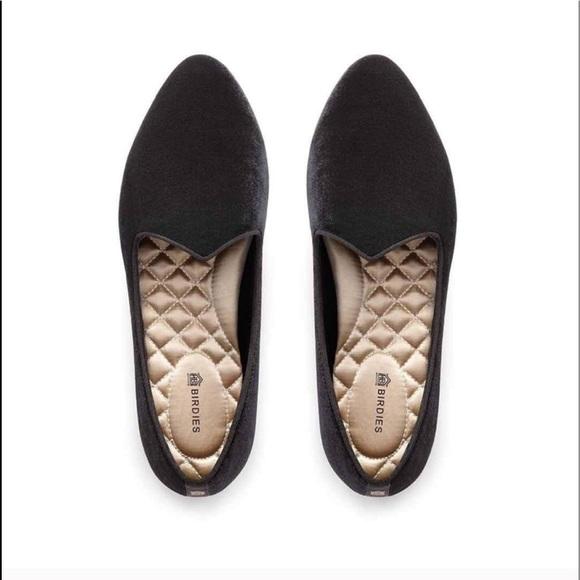 Heron Loafer Womens Black Velvet
